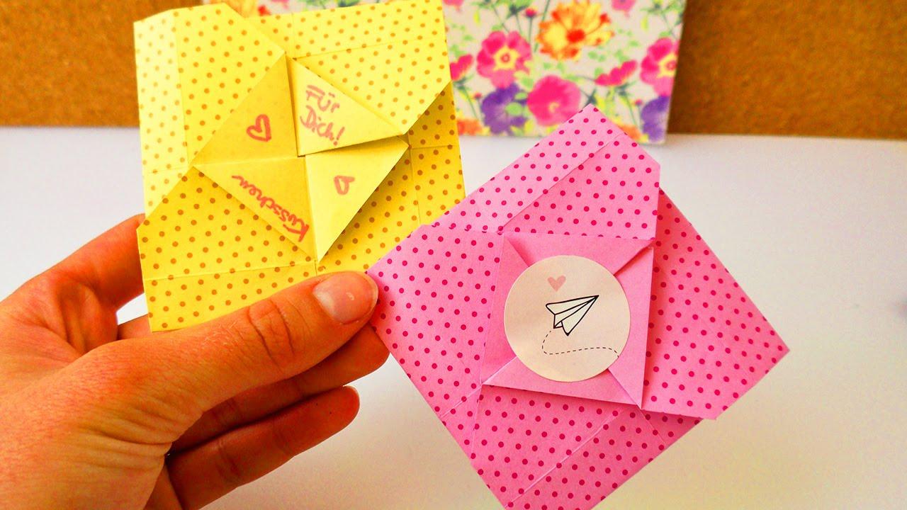 s er origami umschlag f r kleine nachrichten zum ausklappen einfach schnell karte. Black Bedroom Furniture Sets. Home Design Ideas