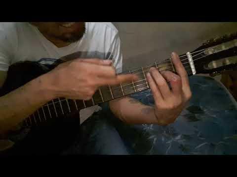 Cómo tocar AC/DC Ride on con guitarra criolla Acordes Tutorial Letra Cover