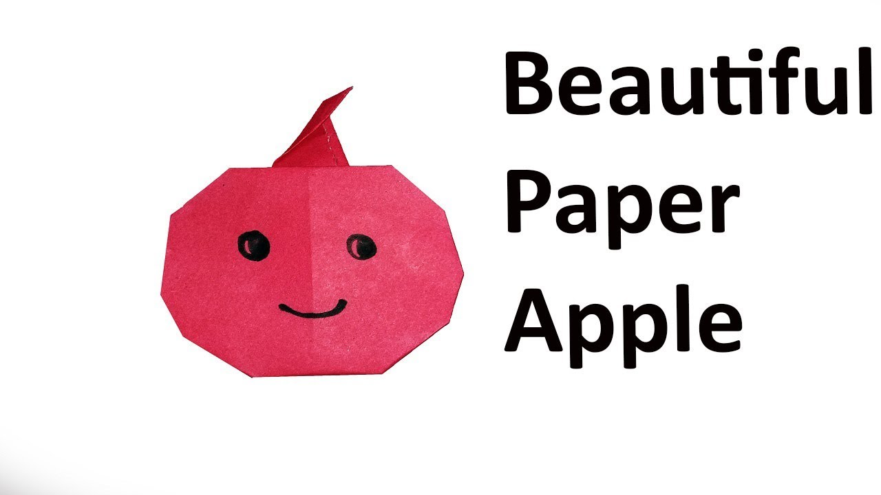 Origami apple instructions.