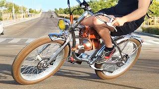 Mi Nueva Bicicleta Electrica es una Moto Clasica ! (Funciona Sin Cadena)