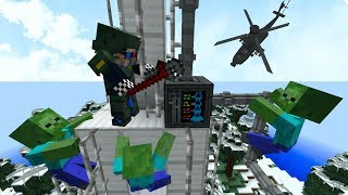 РАДИОВЫШКА! ЛАГЕРЬ БАНДИТОВ! ЧАСТЬ 3. ЗОМБИ АПОКАЛИПСИС В МАЙНКРАФТ! - (Minecraft - Сериал)