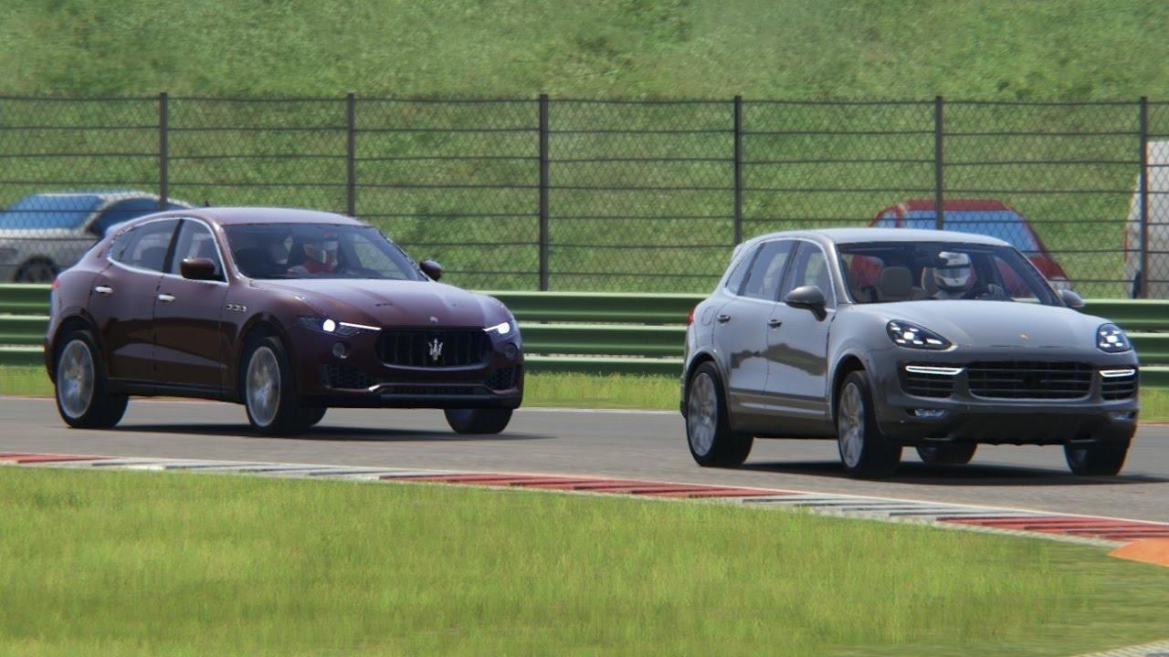 battle maserati levant s vs porsche cayenne turbo s racing at