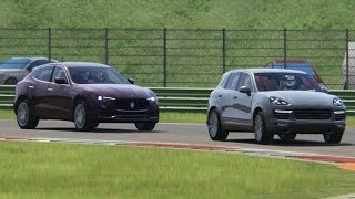 Battle Maserati Levant S vs Porsche Cayenne Turbo S Racing at Vallelunga