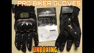 Unboxing Pro Biker Riding Gloves