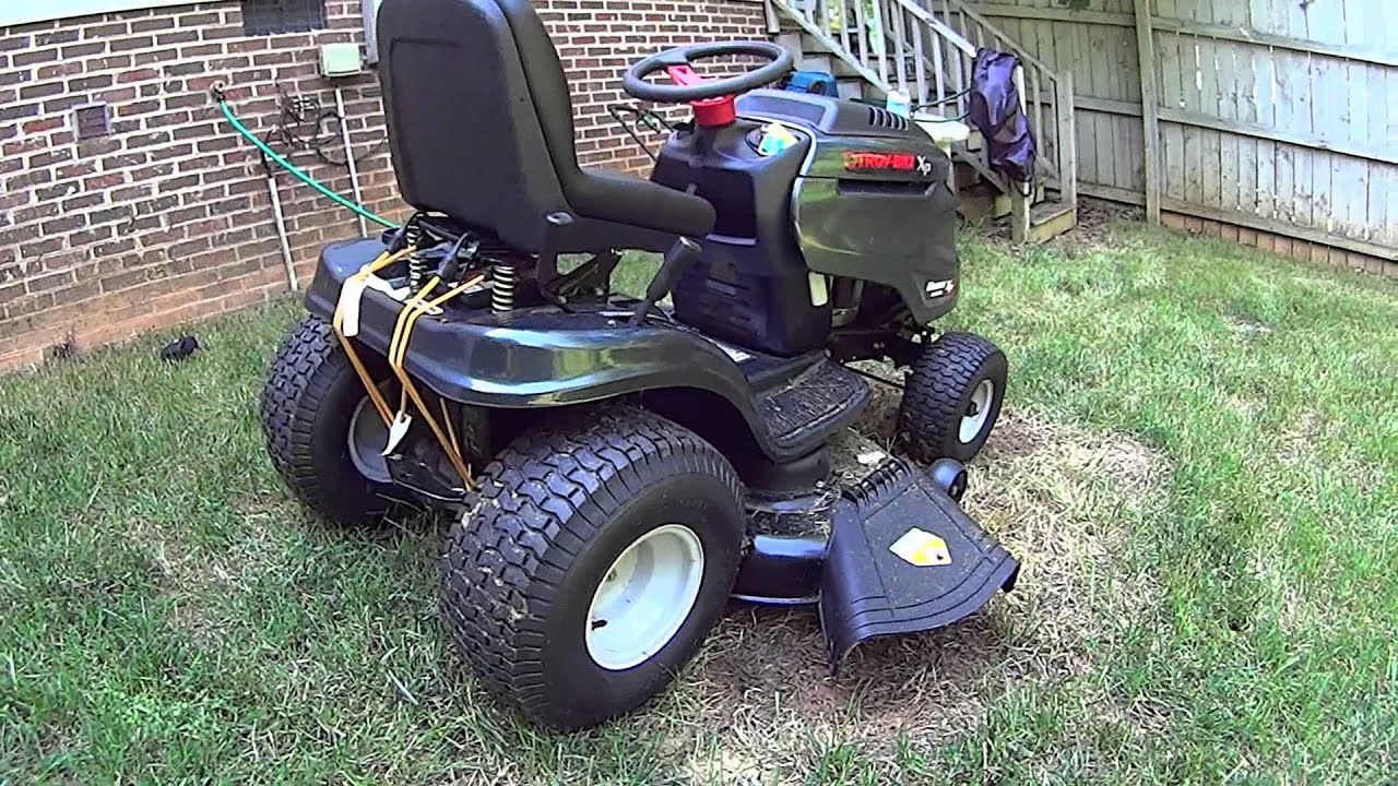 medium resolution of troy bilt horse xp 46 hydrostatic riding lawn tractor product review