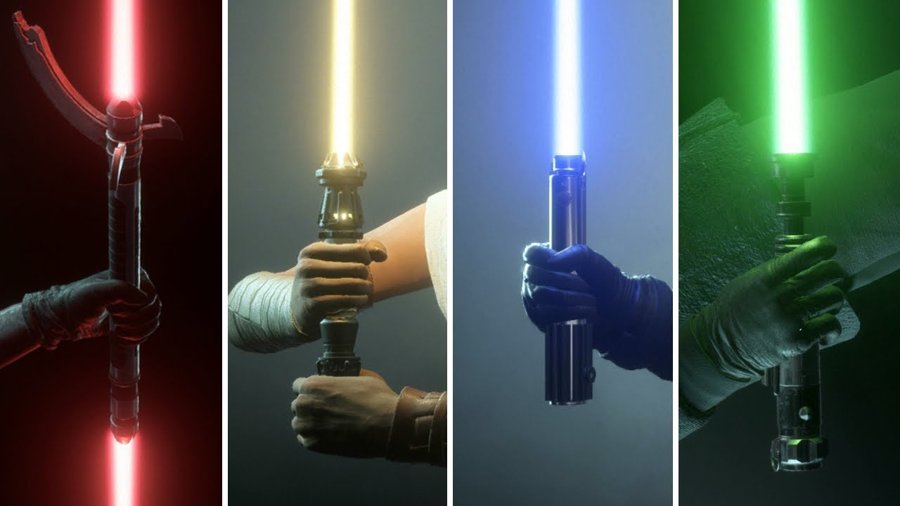 All 13 Lightsabers in Star Wars Battlefront 2 - YouTube