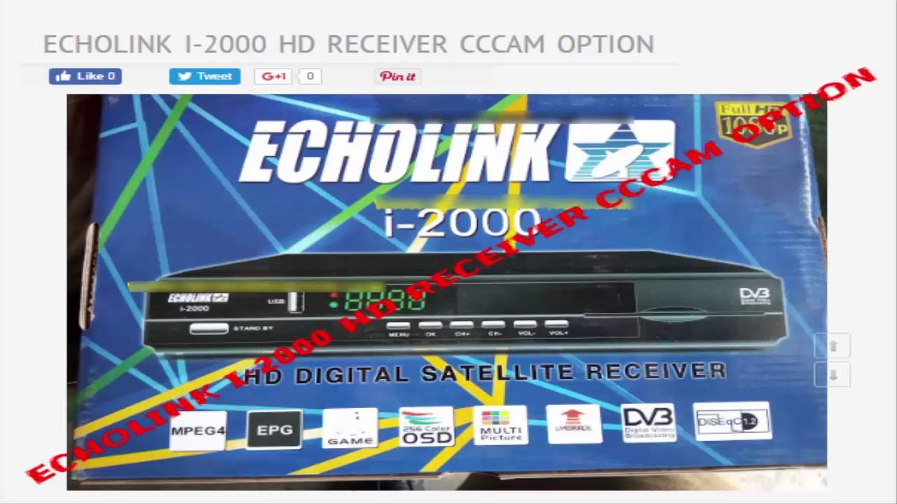 ECHOLINK I 2000 HD RECEIVER CCCAM OPTION
