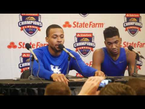 MBB: Malik Monk and  Isaiah Briscoe - Champions Classic Postgame