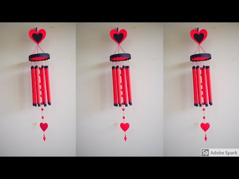 Wind chime craft ideas // Wind chime making // Home decoration ideas | parulpawar