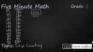 1st Grade Math Skip Counting