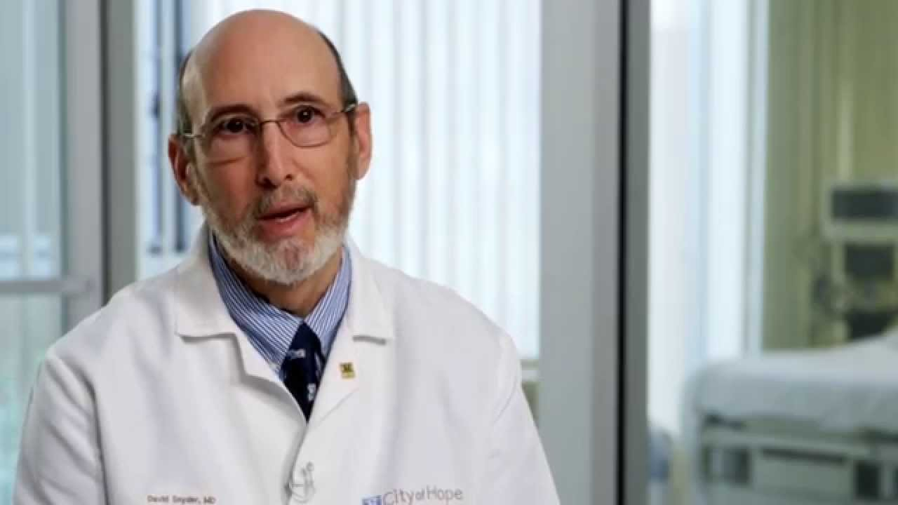 Meet Hematologist David S  Snyder, M D    City of Hope