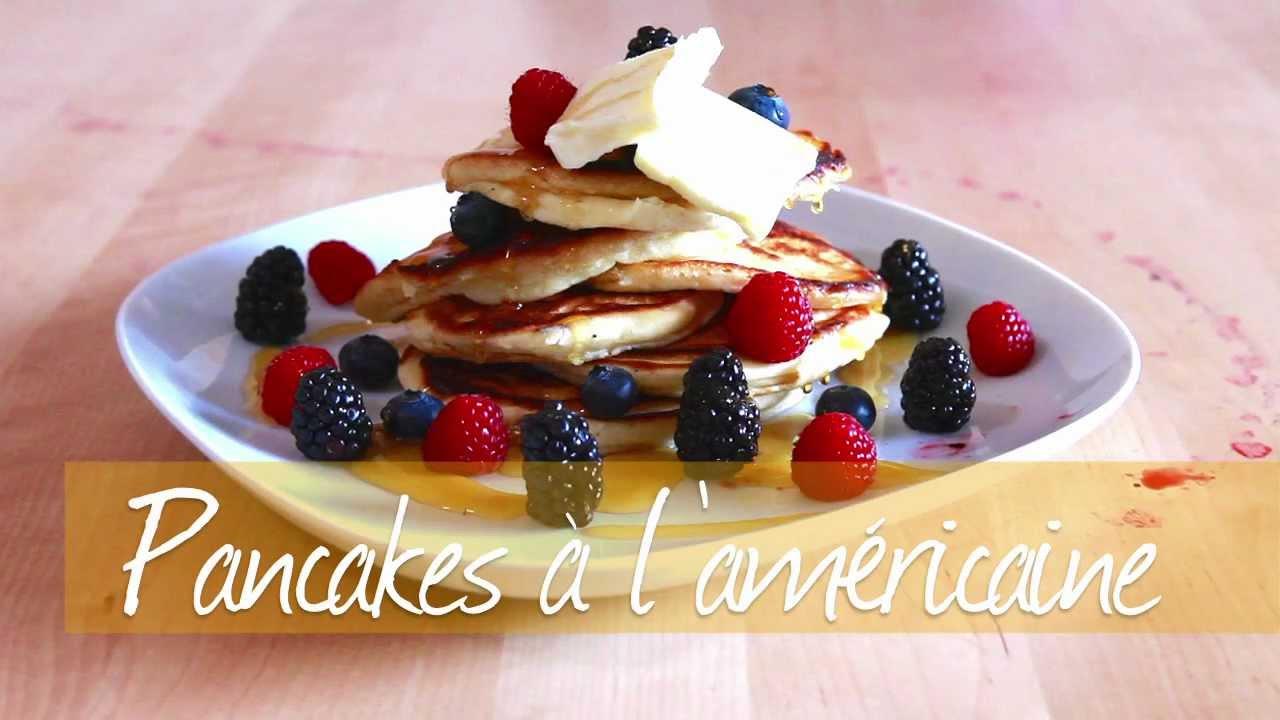recette pour faire des pancakes moelleux l 39 am ricaine youtube. Black Bedroom Furniture Sets. Home Design Ideas