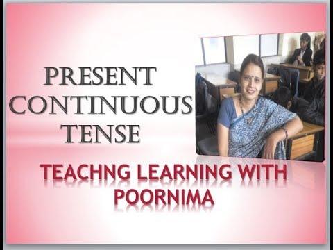 Tenses In English Grammar - Present Continuous Tense