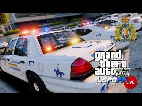 GTA 5 LSPDFR LIVE - RCMP Royal Canadian Mounted Police Patrol   LSPDFR Police Mod Live Stream Patrol