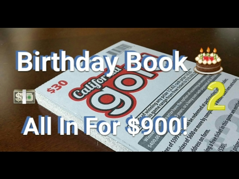 Birthday Book #2 - $30 California Gold Scratchers - All In For $900! 💵