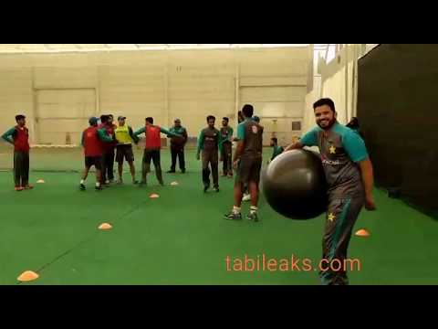 Latest Interesting  Video of Pakistan Cricket Team Practice at England
