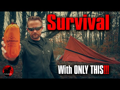 Survival Overnight Adventure with only a Mylar Emergency Tent and Bivy