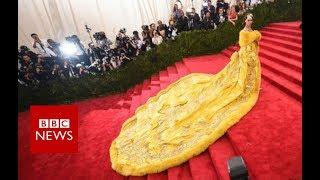 The woman behind Rihanna\'s yellow dress - BBC News