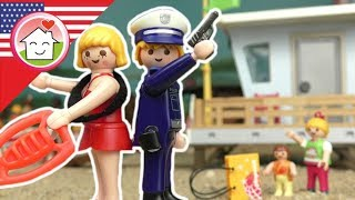 Playmobil police film english Thieves at the Beach - Hauser Family