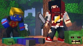 Minecraft: Criamos Apocalipse Zumbi - Batalha de Construir ‹ AM3NIC ›