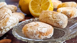 Sicilian cookies that melt in the mouth! /5 ingredients/ Quick and without flour/Almond and lemon 👍🔝