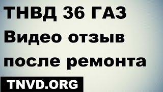 ТНВД 36 ГАЗ 4301 . Видео отзыв после ремонта