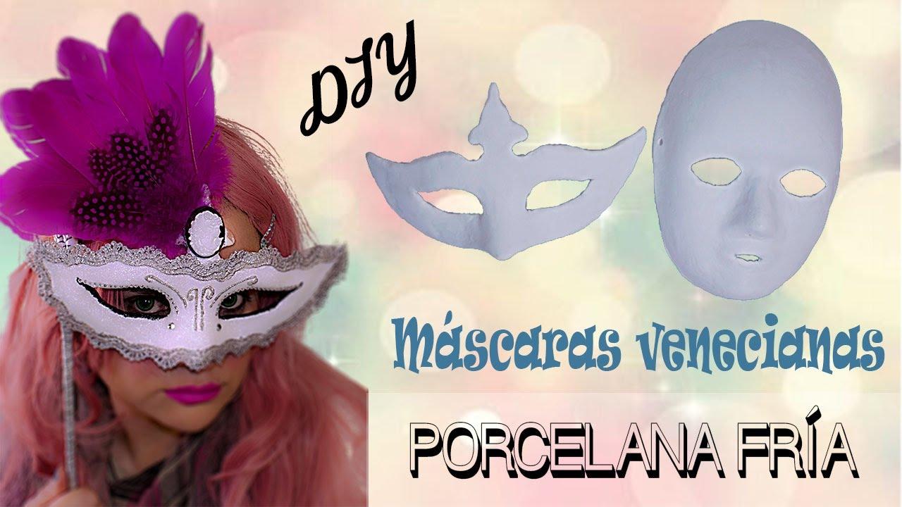 cómo hacer máscaras de porcelana fría 1ª parte - proceso - youtube