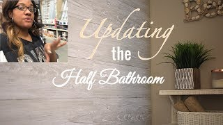 New Half Bathroom Decor & My Shiplap Wall