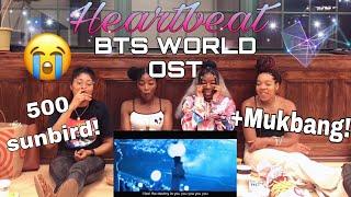 BTS 'Heartbeat (BTS WORLD OST)' MV REACTION +500 Subbies +MUKBANG Pt.1