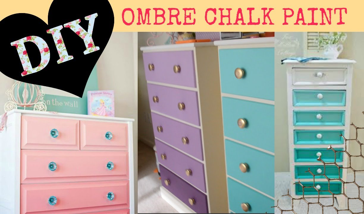 DIY Ombre paint - for Dressers or shelves - YouTube