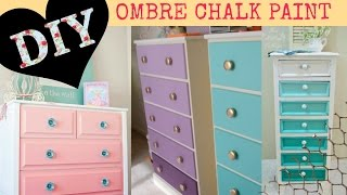 Diy Ombre Paint - For Dressers Or Shelves