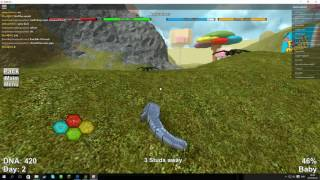 ROBLOX on English Dinousar simulator no I'm just baby.