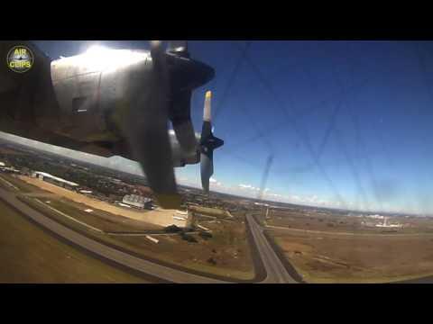 Lockheed Hercules Passenger View! Safair L-100-300 rocketing out of Johannesburg! [AirClips]