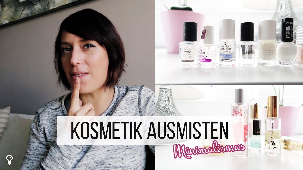 Wie viel kosmetik braucht man ausmisten teil 3 for Youtube minimalismus