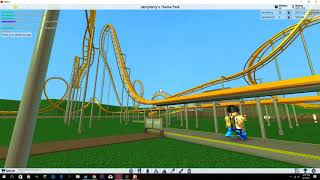 AWESOME NEW 2 ROLLER COASTERS! (Roblox Theme Park Tycoon 2) + BIGGEST ROLLER COASTER EVER!