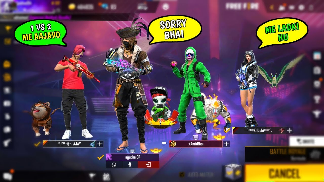 Download AJJUBHAI AND AMITBHAI CHALLENGED BY ENEMY | GARENA FREE FIRE