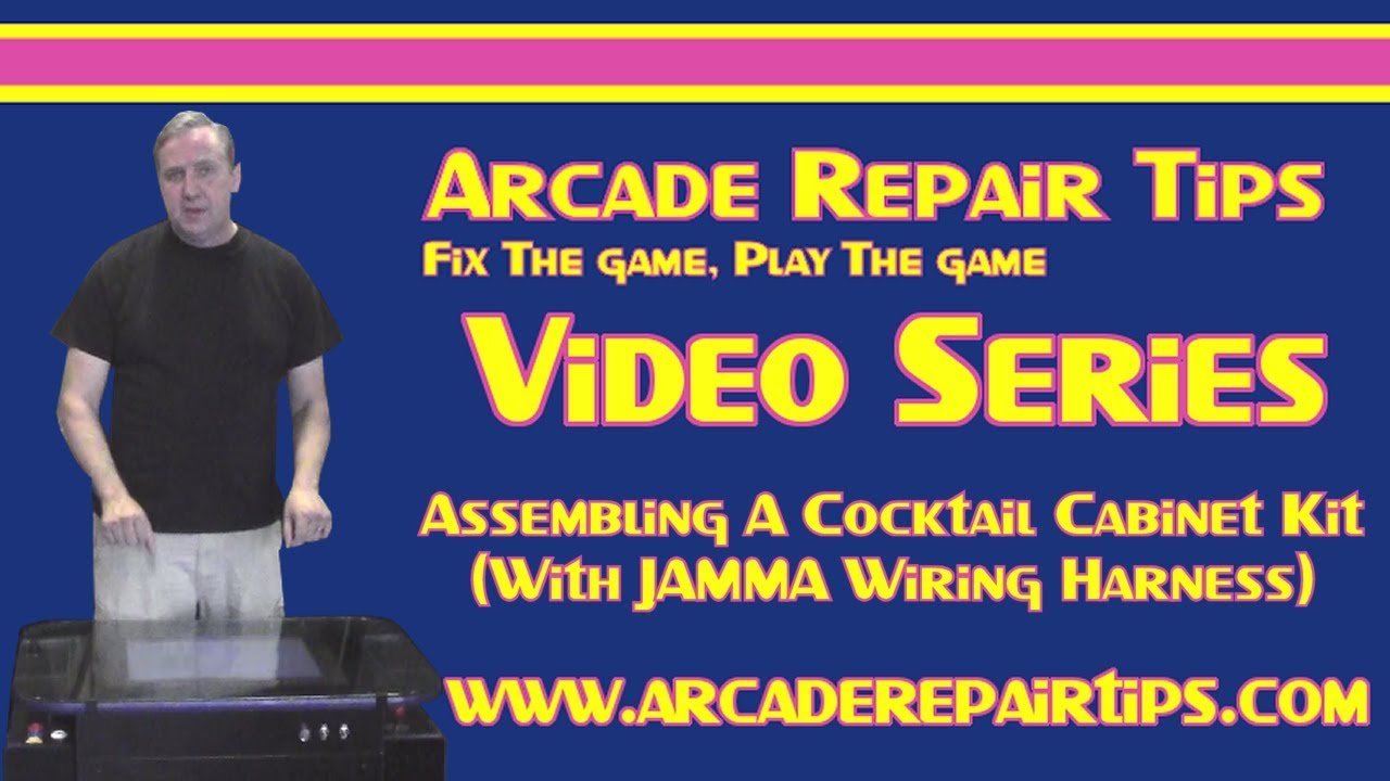 Arcade Repair Tips Assembling A Cocktail Cabinet Kit With Jamma Wiring Harness