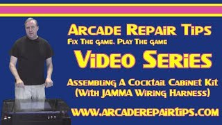 Arcade Repair Tips - Assembling A Cocktail Cabinet Kit (With JAMMA Wiring Harness)