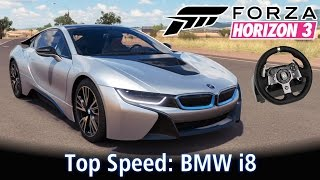 top speed bmw i8 racha com nissan 370z e ferrari f40   forza horizon 3 g920