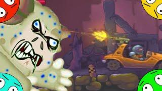 🐾 Охота на зомби Лунтика #5! Гонка сквозь монстров! Мультик Игра. Мультфильм фантазия.