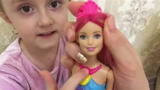 Кукла Barbie Радужная русалочка Gem Fasion (свет), DHC40