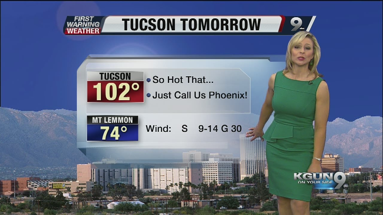 Chief meteorologist erin christiansen s kgun 9 forecast tuesday june