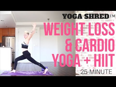25 Minute HIIT Yoga Fusion (Yoga Shred) for Weight Loss & Cardio!