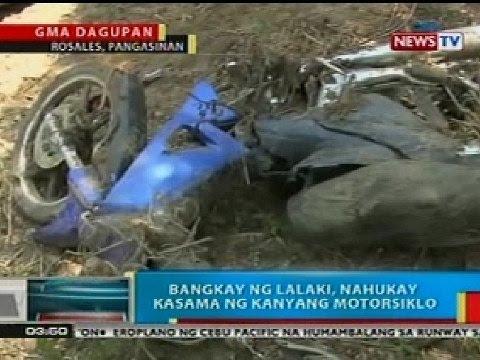 BP: Bangkay ng lalaki, nahukay kasama ng kanyang motorsiklo sa Rosales, Pangasinan