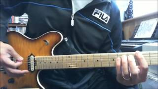 This guitar lesson covers the main riff from the song Crazy Night b...