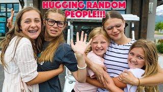 WE GAVE HUGS TO 100 RANDOM PEOPLE - CHALLENGE!! *gone wrong