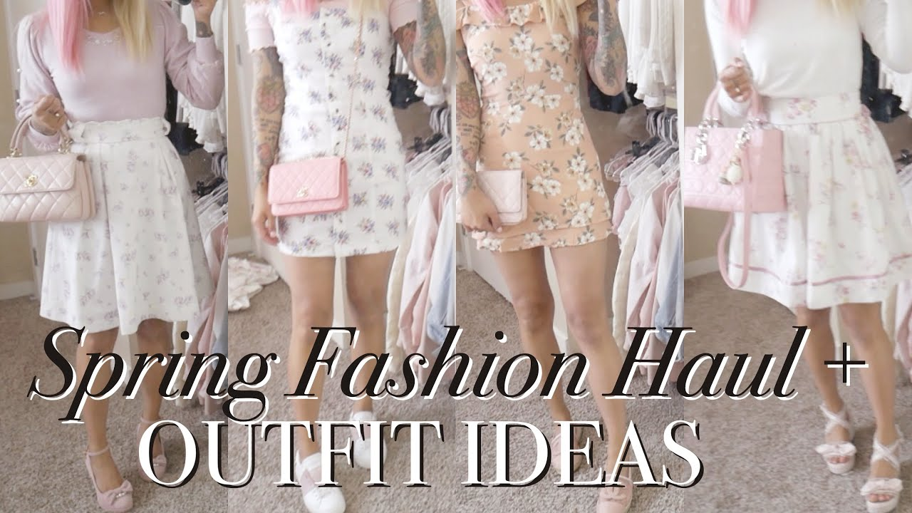 [VIDEO] – SPRING OUTFIT IDEAS & HAUL ♡ What's New to my Spring Wardrobe! ♡ xsakisaki