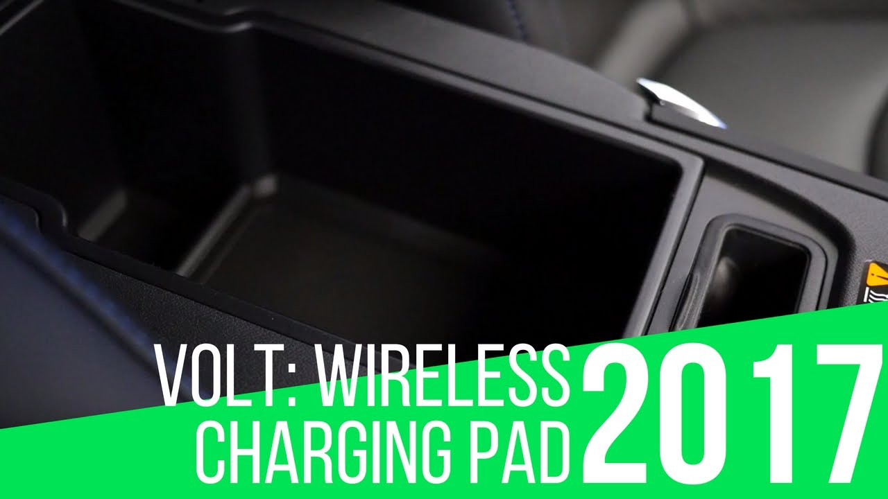 2017 Chevrolet Volt Wireless Charging Slot