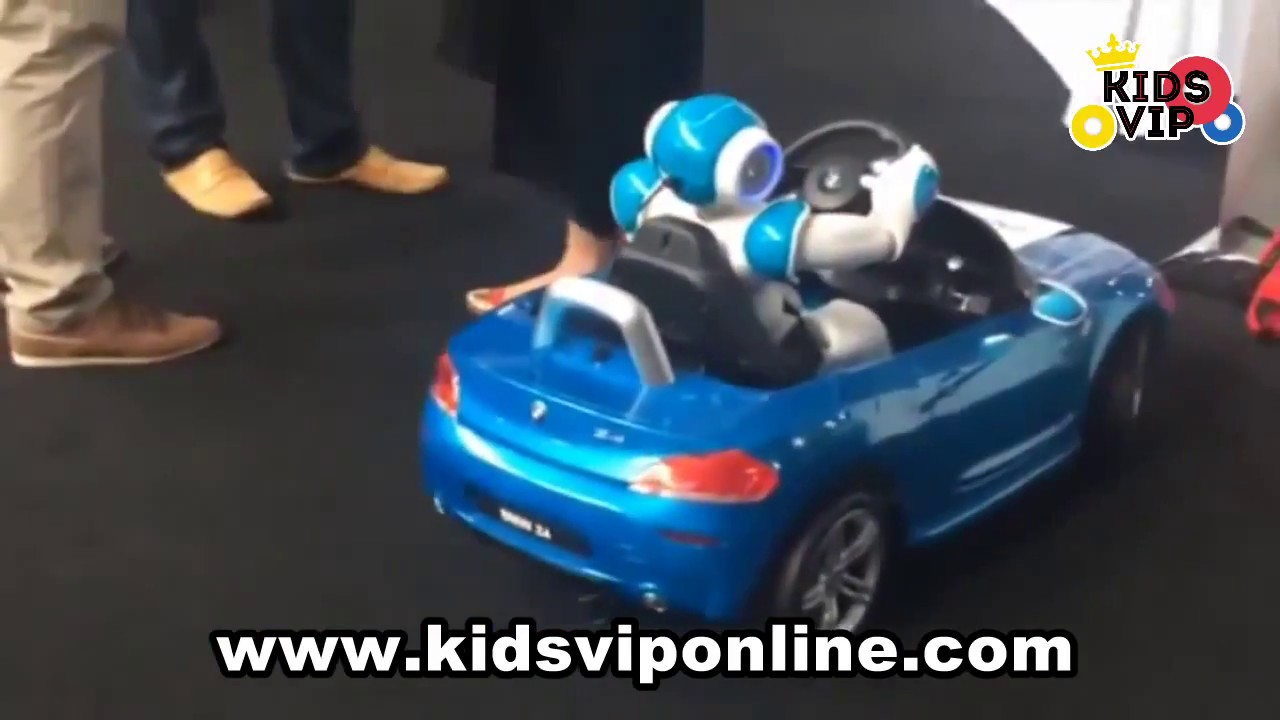 bmw z4 for kids. ride on car with rc - youtube