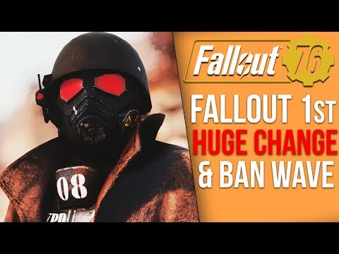 Fallout 76 News - Major Fallout 1st Changes, Huge Ban Wave Effects Bug Fixers, Fallout 1st Silence